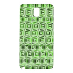 Classic Blocks,green Samsung Galaxy Note 3 N9005 Hardshell Back Case by MoreColorsinLife
