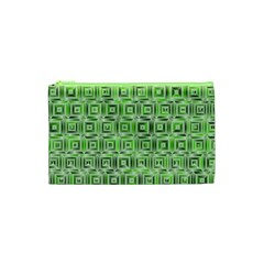 Classic Blocks,green Cosmetic Bag (xs) by MoreColorsinLife