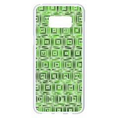 Classic Blocks,green Samsung Galaxy S8 Plus White Seamless Case by MoreColorsinLife