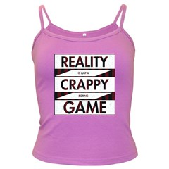 Reality Is Just A Crappy  Boring Game Dark Spaghetti Tank