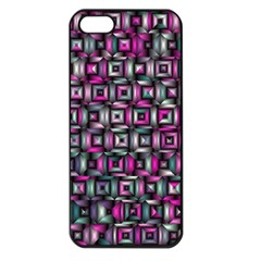 Classic Blocks,pink Combo Apple Iphone 5 Seamless Case (black) by MoreColorsinLife