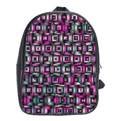 Classic Blocks,pink Combo School Bag (xl) by MoreColorsinLife