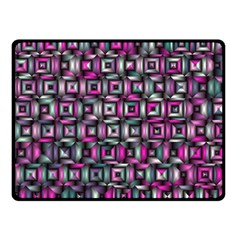 Classic Blocks,pink Combo Double Sided Fleece Blanket (small)  by MoreColorsinLife