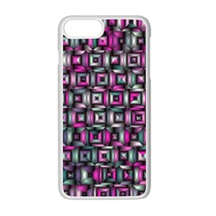 Classic Blocks,pink Combo Apple Iphone 7 Plus Seamless Case (white) by MoreColorsinLife