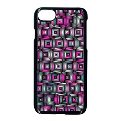 Classic Blocks,pink Combo Apple Iphone 7 Seamless Case (black) by MoreColorsinLife