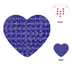 Classic Blocks,blue Playing Cards (heart)  by MoreColorsinLife