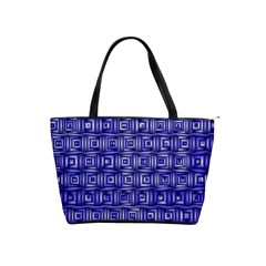 Classic Blocks,blue Shoulder Handbags by MoreColorsinLife