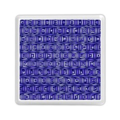 Classic Blocks,blue Memory Card Reader (square)  by MoreColorsinLife