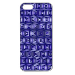 Classic Blocks,blue Apple Seamless Iphone 5 Case (clear) by MoreColorsinLife