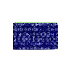 Classic Blocks,blue Cosmetic Bag (xs) by MoreColorsinLife