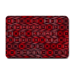 Classic Blocks,red Small Doormat  by MoreColorsinLife