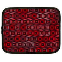 Classic Blocks,red Netbook Case (xl)  by MoreColorsinLife