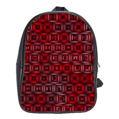 Classic Blocks,red School Bag (large) by MoreColorsinLife