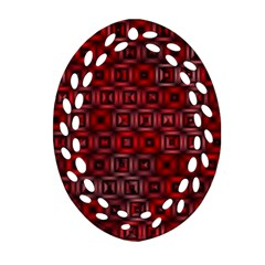 Classic Blocks,red Ornament (oval Filigree) by MoreColorsinLife
