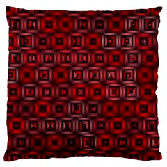 Classic Blocks,red Large Cushion Case (two Sides) by MoreColorsinLife