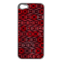 Classic Blocks,red Apple Iphone 5 Case (silver) by MoreColorsinLife