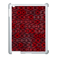Classic Blocks,red Apple Ipad 3/4 Case (white) by MoreColorsinLife