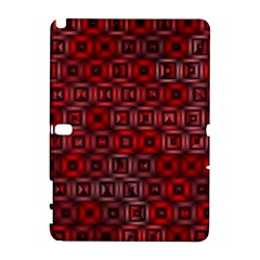 Classic Blocks,red Galaxy Note 1 by MoreColorsinLife