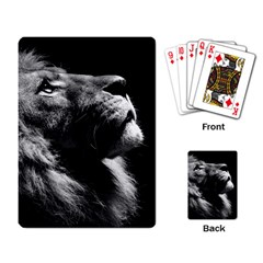 Male Lion Face Playing Card by Celenk