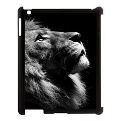 Male Lion Face Apple Ipad 3/4 Case (black) by Celenk