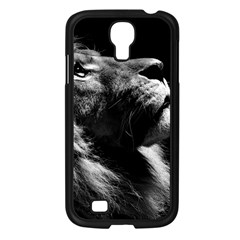 Male Lion Face Samsung Galaxy S4 I9500/ I9505 Case (black) by Celenk