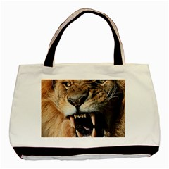 Male Lion Angry Basic Tote Bag by Celenk