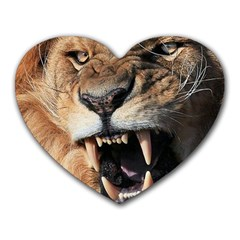 Male Lion Angry Heart Mousepads
