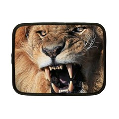 Male Lion Angry Netbook Case (small)