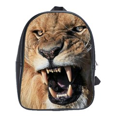 Male Lion Angry School Bag (xl) by Celenk