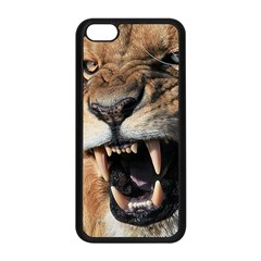 Male Lion Angry Apple Iphone 5c Seamless Case (black) by Celenk