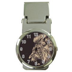 Angry Male Lion Money Clip Watches by Celenk