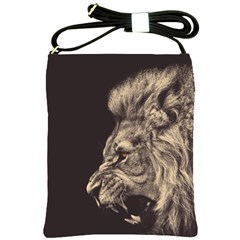 Angry Male Lion Shoulder Sling Bags by Celenk