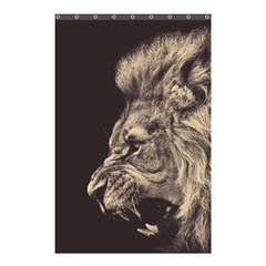 Angry Male Lion Shower Curtain 48  X 72  (small)  by Celenk