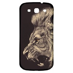 Angry Male Lion Samsung Galaxy S3 S Iii Classic Hardshell Back Case by Celenk