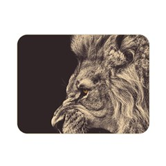 Angry Male Lion Double Sided Flano Blanket (mini)  by Celenk
