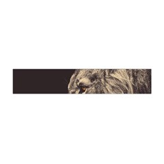 Angry Male Lion Flano Scarf (mini) by Celenk