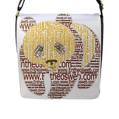 Panda Typography Flap Messenger Bag (l)  by Celenk