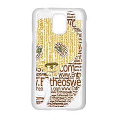 Panda Typography Samsung Galaxy S5 Case (white) by Celenk