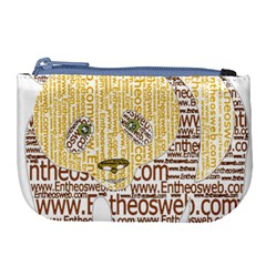 Panda Typography Large Coin Purse