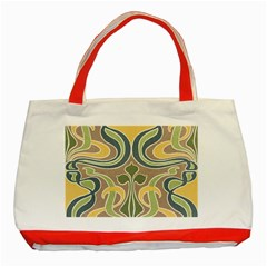 Art Floral Classic Tote Bag (red) by 8fugoso