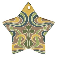 Art Floral Star Ornament (two Sides) by 8fugoso