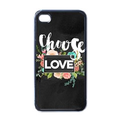 Love Apple Iphone 4 Case (black) by 8fugoso