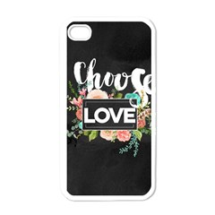 Love Apple Iphone 4 Case (white) by 8fugoso