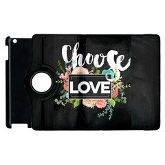 Love Apple Ipad 3/4 Flip 360 Case by 8fugoso