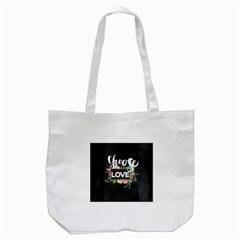 Love Tote Bag (white) by 8fugoso