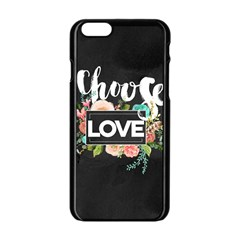 Love Apple Iphone 6/6s Black Enamel Case by 8fugoso