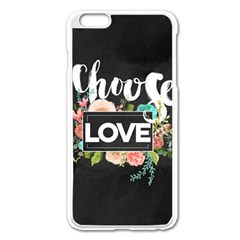 Love Apple Iphone 6 Plus/6s Plus Enamel White Case by 8fugoso