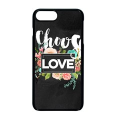 Love Apple Iphone 7 Plus Seamless Case (black) by 8fugoso