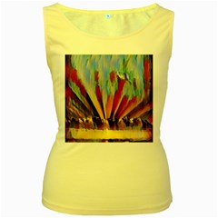 3abstractionism Women s Yellow Tank Top by 8fugoso