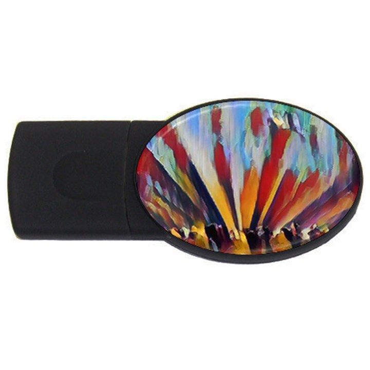 3abstractionism USB Flash Drive Oval (2 GB)